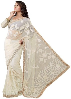 Manglam Sarees Self Design Bollywood Net Sari