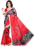 Sunita Sarees Printed Bhagalpuri Silk Saree(Red)
