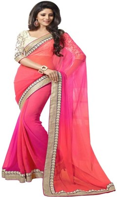 Namo Fashion Embriodered Bollywood Georgette Sari