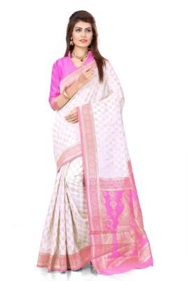 Om Shantam Sarees Self Design Banarasi Silk Sari