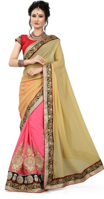 Shart Embriodered Lehenga Saree Crepe, Georgette Sari