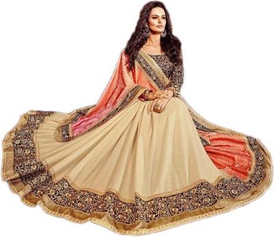 Manish Creation Embellished, Embriodered Bollywood Silk, Jacquard, Crepe Sari