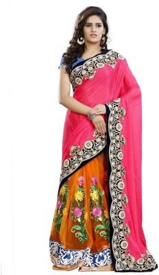 Regalia Ethnic Embriodered Fashion Net Sari