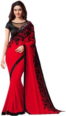 Ethnicup Embriodered Bollywood Chiffon Sari