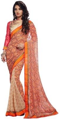 Friendlyfab Printed Fashion Georgette Sari