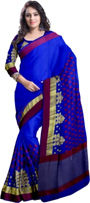 Komal Sarees Woven, Self Design Bollywood Chanderi, Art Silk Sari