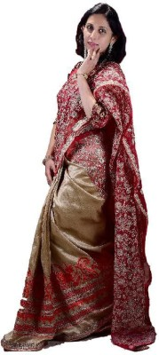 Soundarya Lahari Embriodered Bollywood Net, Raw Silk Sari