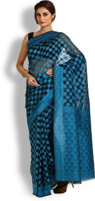 Kasturi-B Swadeshi Karigari Checkered Banarasi Handloom Net Sari