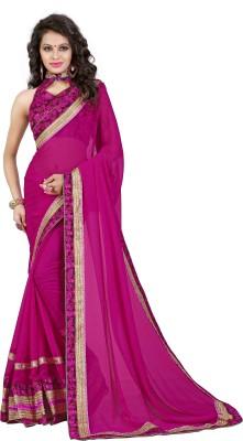 Oomph! Floral Print Bollywood Chiffon Saree(Multicolor) at flipkart