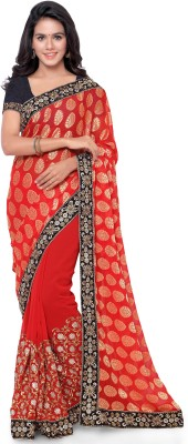 Four Seasons Embriodered Fashion Net, Georgette Sari