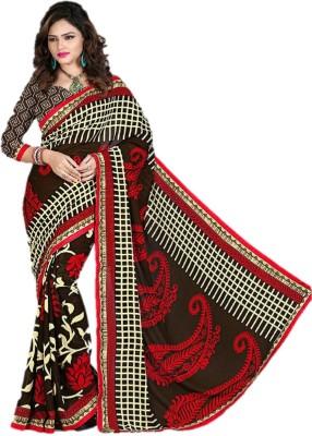 Gopika Creation Printed, Striped Daily Wear Georgette Sari