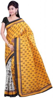 Zeel Fashion Printed Bhagalpuri Cotton Sari