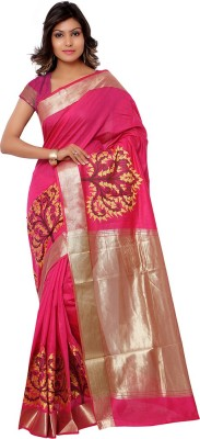 Vastrani Self Design Fashion Silk Sari