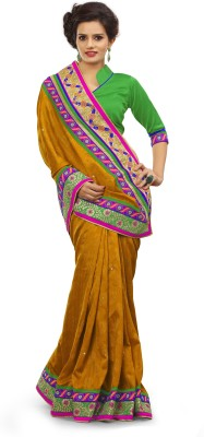 Adde Embellished Fashion Jacquard, Silk Sari