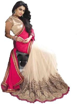 Clickindia Embriodered Fashion Georgette Sari
