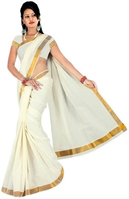 Ethnic Andaaz Solid Fashion Handloom Cotton Sari