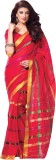 Reet Solid Fashion Cotton Saree (Red)