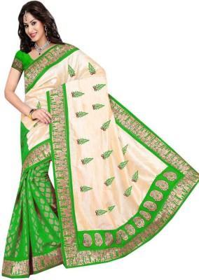 Heer Ganga Printed Fashion Silk, Jacquard Sari