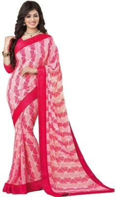 Twinsbirds Striped Bollywood Georgette Sari