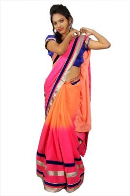 Creativz Hand Argyle Bollywood Dupion Silk Sari