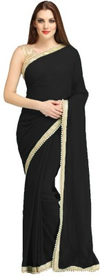 Fashion Apparel Solid Daily Wear Chiffon Sari