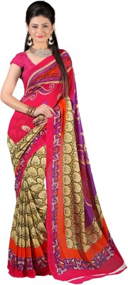 J Milan Printed Fashion Georgette Sari