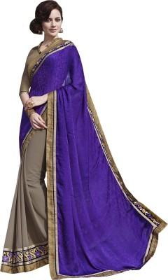 Melluha Embriodered Fashion Pure Crepe Sari