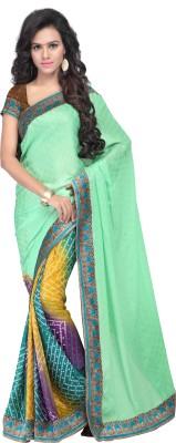 Parmeshwari Textiles Embriodered Bollywood Pure Georgette Sari