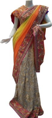 Mamta Boutique Self Design Bollywood Georgette, Net Sari