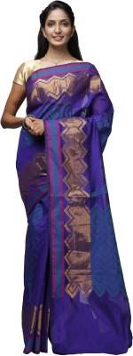 Shloka Woven Banarasi Handloom Synthetic Georgette Sari