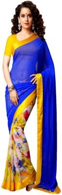 Genius Creation Self Design Bollywood Crepe Sari