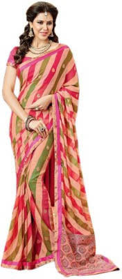 Vishal Prints Printed Fashion Georgette Sari