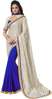 Rainbowsuits Embriodered Rajshahi Georgette Sari