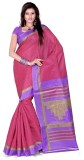 Cenizas Solid Fashion Art Silk Saree (Pi...