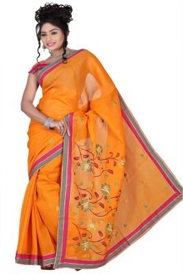 Chaand Sarees Embriodered Bollywood Silk Cotton Blend Sari