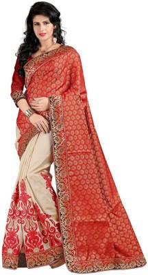 Dancing Girl Embriodered Bollywood Art Silk Sari