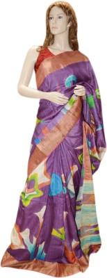 Exin Fashion Woven Bhagalpuri Tussar Silk Sari