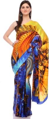 Sisel Printed Fashion Satin Sari