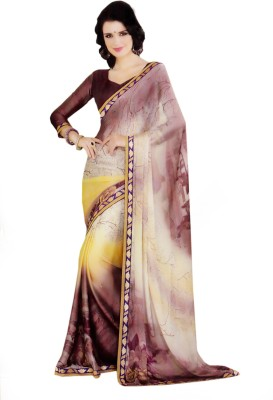 Leela Exclusive Floral Print Fashion Georgette Sari