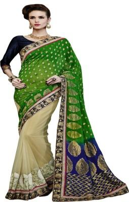 Dealtz Fashion Embriodered Fashion Chanderi Sari