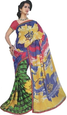 Kaveesha Floral Print Bollywood Chiffon Sari