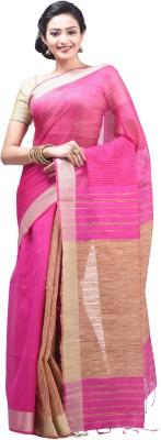 Creation Plain Fashion Handloom Silk Cotton Blend Sari