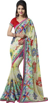 leepsprints Printed Bollywood Georgette Sari