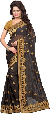 PAHAL FASHION Embriodered Daily Wear Georgette Sari