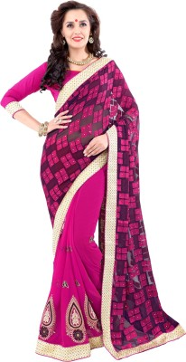 ethniccrush Embriodered Fashion Brasso, Georgette Sari