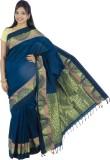 Ethino Plain Fashion Polycotton Sari