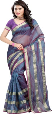 Ansu Fashion Solid Fashion Art Silk Saree(Green) at flipkart