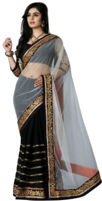 Mukta Mishree Exports Embriodered Fashion Net Sari