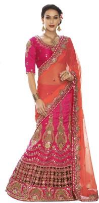 Fashion Forever Embriodered Fashion Silk, Net Sari
