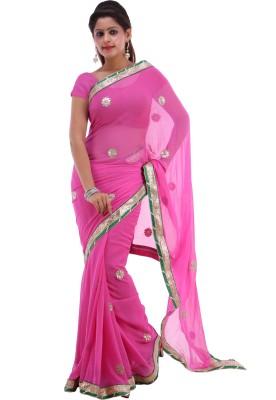 Shubh Solid Fashion Chiffon Sari